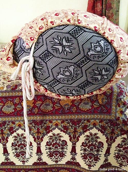 Bolster Pillow on Indian Divan