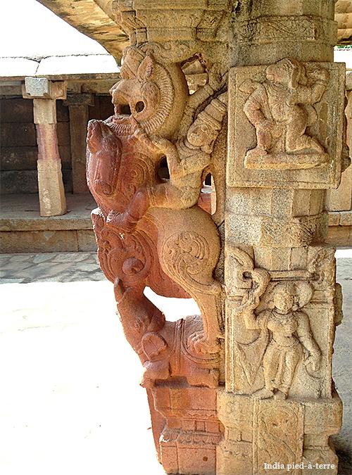 Carved Column in Nandi Hills Bhoga Nandeeshwara Temple