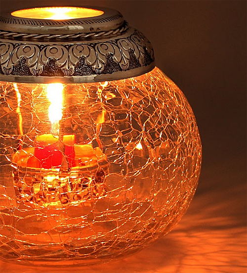 Glass Candle Lamp from Jaypore