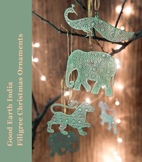 Good Earth India Filigree Christmas Ornaments