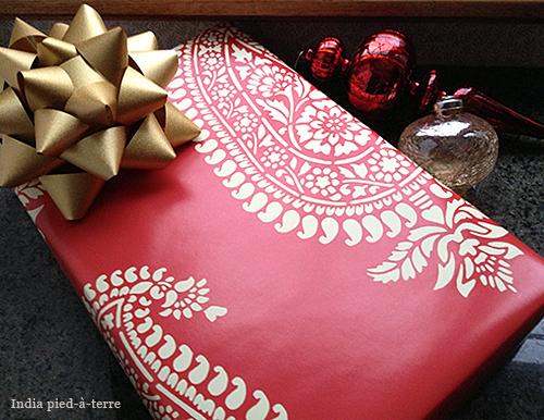 Red-Paisley-Block-Print-Gift-Wrap