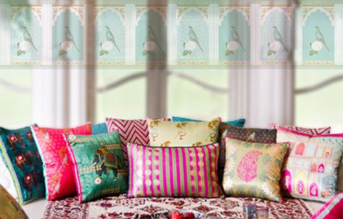 Silk Pillows from Good Earth Serai Collection
