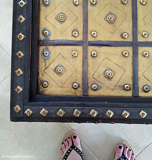 Studded Indian Coffee Table and Studded Italian Flip Flops