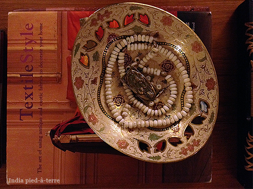 Textile Style Book, Indian Bowl and Buddha Amulet Necklace