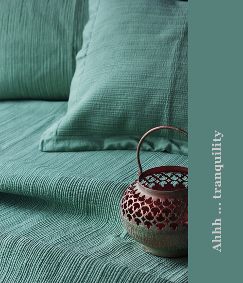 Tranquility Bedcoverings at Good Earth India
