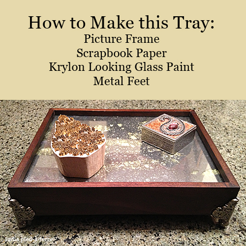 How to Make a Mirrored Tray from a Picture Frame