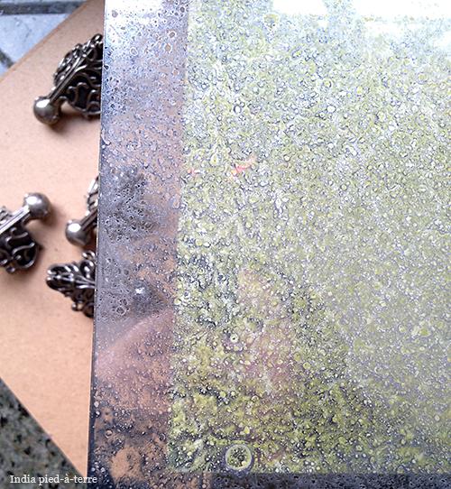 Lightly Sprayed Krylong Looking Glass Paint