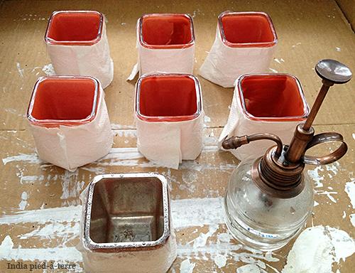 Making Mercury Glass with Krylon Looking Glass Paint