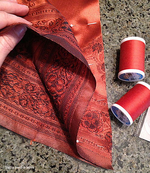 Pinning and Sewing a French Seam