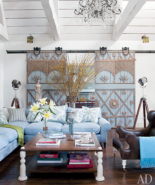 Doors in Ozzy and Sharon Osbourne Living Room