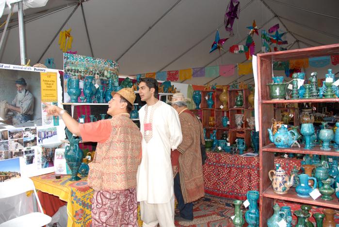 Istalif Pottery at Santa Fe Folk Art Market via Jindhag Foundation