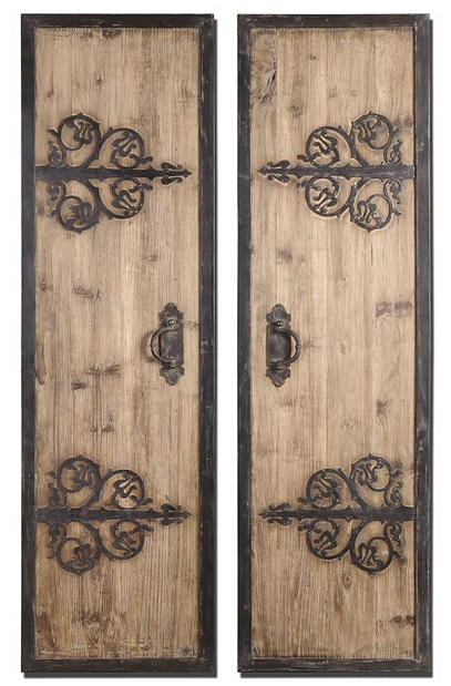 Wood and Iron Ornamented Doors