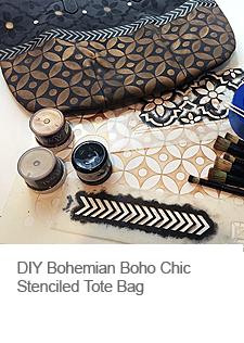 DIY Boho Chic Stenciled Tote Bag