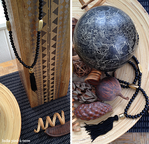 Raven and Lily Tassel Necklace