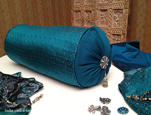 Bejeweled Bolster with Jewelry-Making Supplies