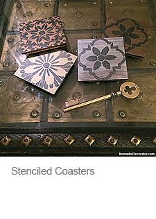 Stencils and Coasters
