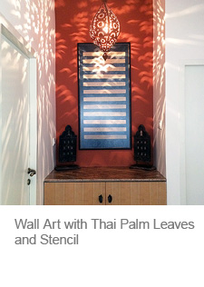 Wall Art with Palm Leaves
