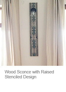Wood with Raised Stencil Pattern