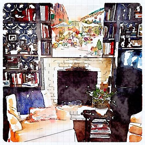 Interior Design Waterlogue Image by Jena Salmon
