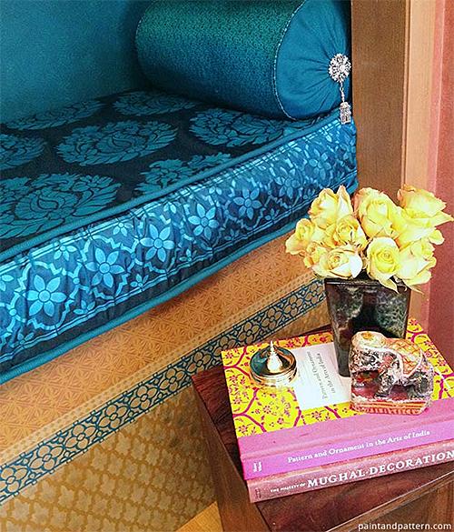 DIY Stenciled Closet Reading Nook