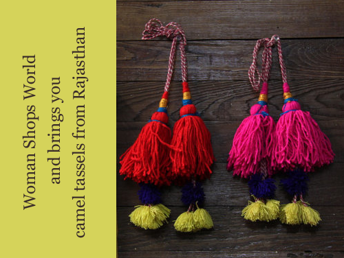 Camel Tassels from Woman Shops World on Etsy
