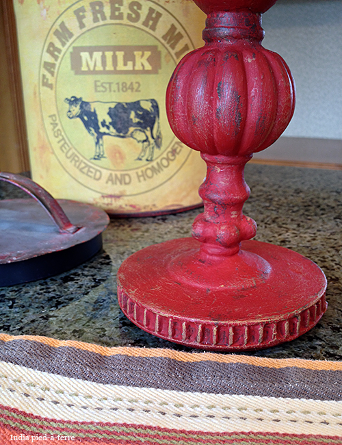 Candlestick Painted with Antique Effect