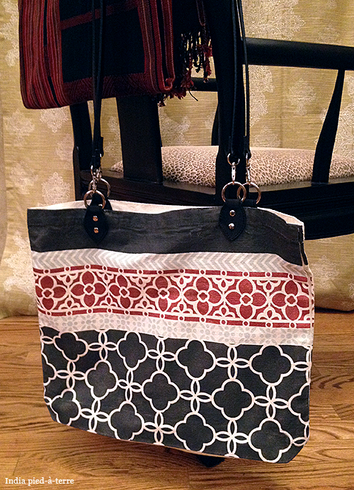 DIY Anthro-Style Patterned Tote Bag with Stencils