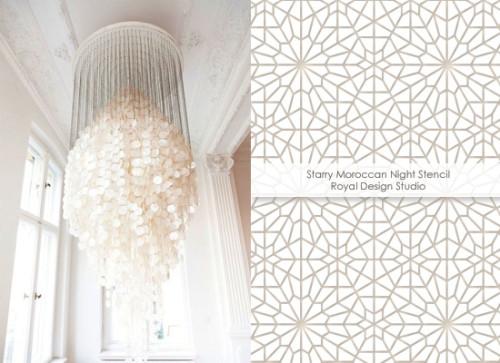 Starry Moroccan Night Stencil