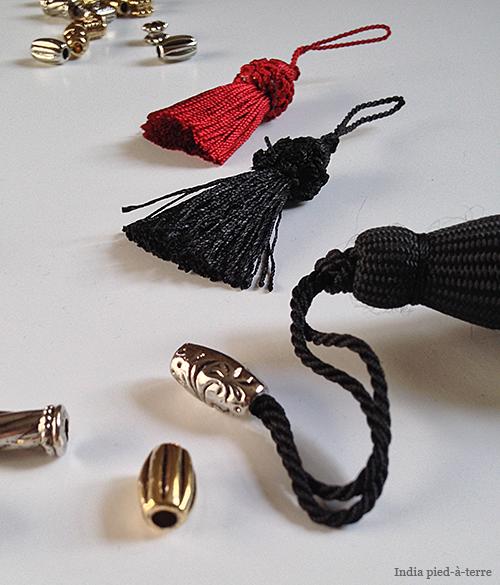 Thread Beads on Tassel Loops