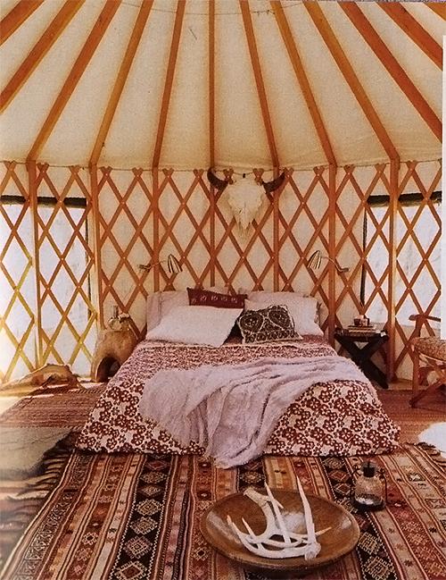 Yurt via Domino Magazine