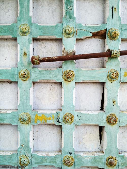 Wooden Door in Rural South India