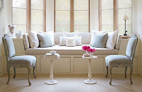 Little Side Tables by Banquette via Traditional Home