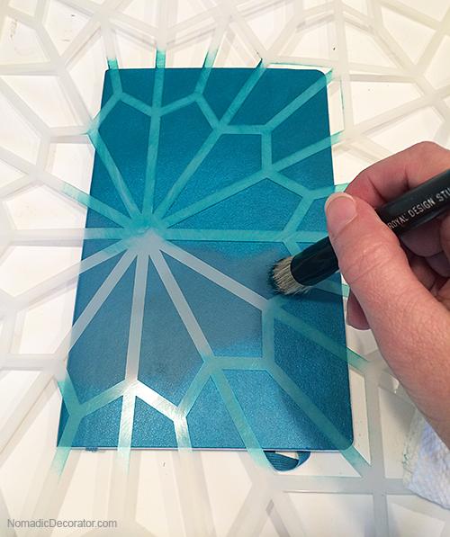 Stenciling a Moleskine Journal