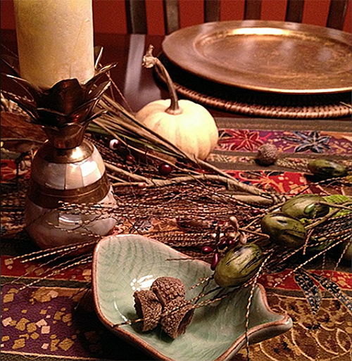 #7vignettes dining table scene