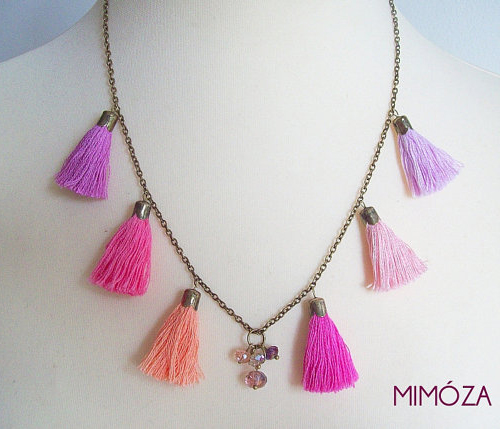 Tassel Necklace from Mimoza on Etsy