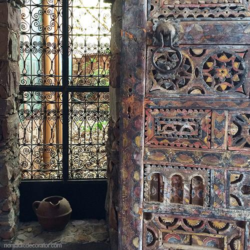 Al Maqam Artist Colony Stone Window Wood Carved Door