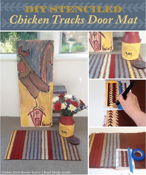 Chicken Tracks Door Mat