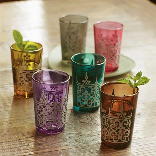 Moroccan Tea Glasses from Viva Terra