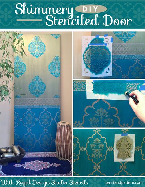 Sari-Inspired Painted Door