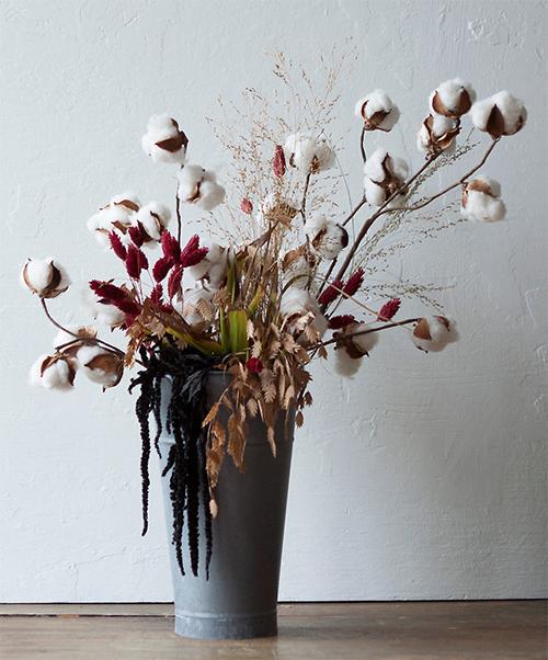 Terrain Cotton and Amaranth Arrangement