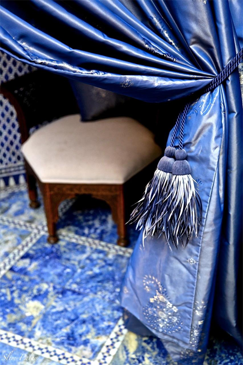 True Blue Moment at Royal Mansour by Slim Paley
