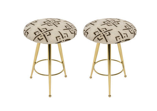50s Brass and Vintage Mud Cloth