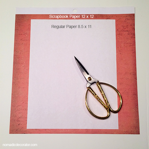 Cut the Scrapbook Paper to Printer Paper Size