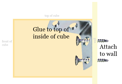 How to Attach the Cube Shelf to the wall