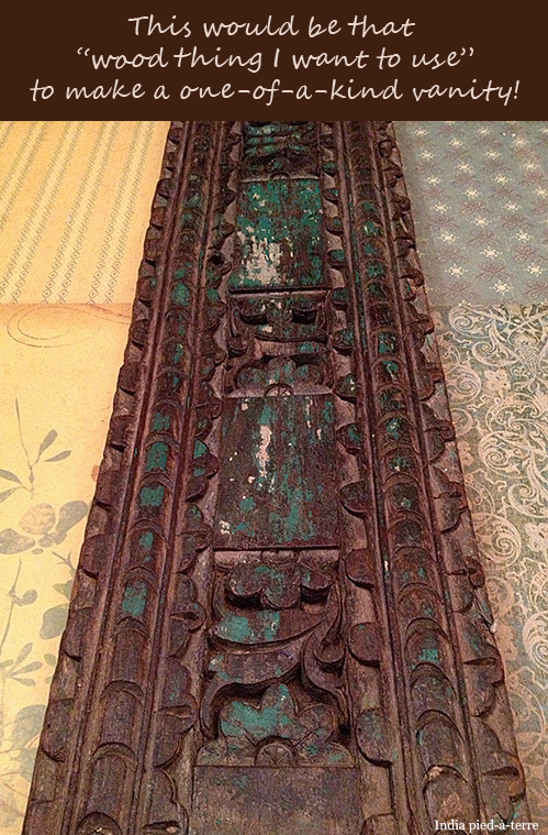 Carved Wood Door Frame from India