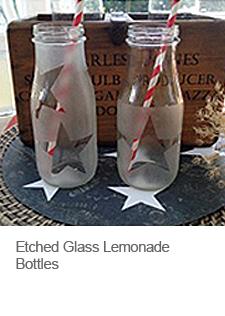 DIY Etched Glass Bottles
