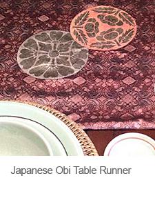 DIY Japanese Obi Table Runner