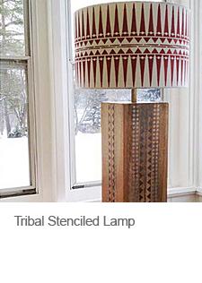 DIY Stenciled Lampshade