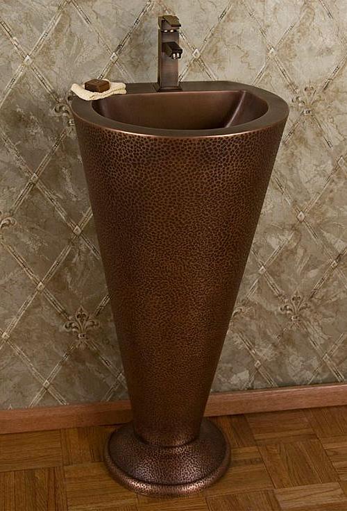 Copper Pedestal Sink
