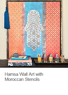 Hamsa Wall Art with Moroccan Patterns